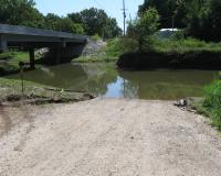 Creek access ramp