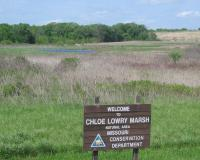 Entrance sign to the marsh