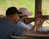 Target shooting at Andy Dalton Shooting Range and Outdoor Education Center