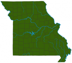 image of Pin Oak distribution map